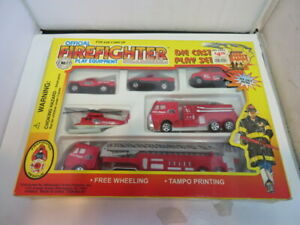 Official Firefighter Play Equipment Die Cast Play Set In original box