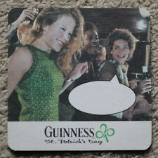 Vintage Guinness Female Caption Beer Mat St. Patrick's Day Sing-a-long Danny Boy