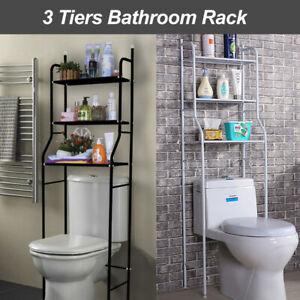 3 Tiers Toilet Shelf Bathroom Rack Over Laundry Washing Machine Storage Shelves