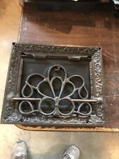"""Br 34 Antique Cast-Iron Floor To Wall Mount Heating Great 10 X 12"""""""