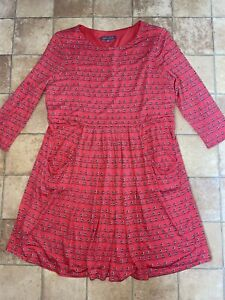 Laura Ashley Red Birds Dress, Size 16