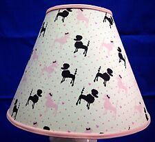 Pink Poodle Dog Canine Handmade Lampshade Lamp Shade