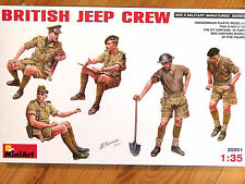 Miniart 1:35 British Jeep Crew WWII Figures Model Kit