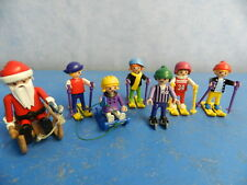 viele Kinder beim Skifahren Skisport Schlitten Winter Playmobil 7178