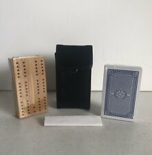 CRIBBAGE Travel Set, Pocket Size Compact Leather Case. New Sealed
