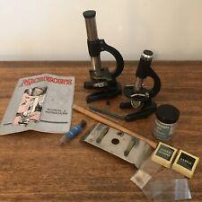 Vintage Meccano Microscopes Set 1935 Slides Tray Specimen Collection Kit