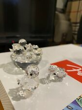 Swarovski Crystal Figurines Duck Lot- All retired With Logos (No Box)