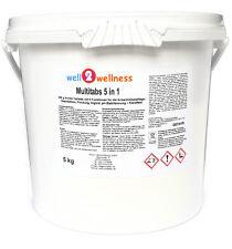 Chlortabletten Chlor Multitabs 5 in 1, 200g im 5,0 kg Eimer mit 96% Aktivchlor