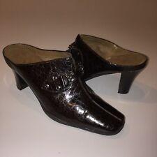 Aerosoles High Heel Mules Size 9M Brown Slip On Shoes Split Moc Toe 26156-7