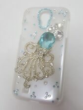 Fitted Turquoise Clear Octopus For Samsung Galaxy S4 white fitted hardcase New
