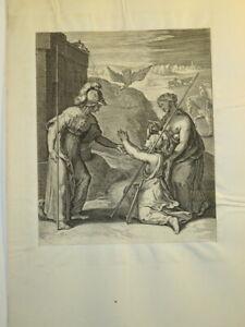 Otto VAN VEEN ( 1556 - 1629) GRAVURE XVII° MANIERISME MYTHOLOGIE FLANDRES 1607 c