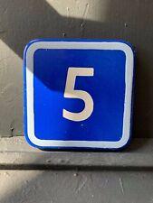 Vintage Enamel House Numbers Made in Europe House Number Room Number Hotel