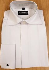 MENS NEW WHITE CUT AWAY COLLAR COTTON WEDDING SHIRT 14 15 16 17 18 19 1/2 ""