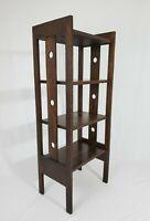 Antique Mission Arts & Crafts Oak Wood Bookcase Book Shelf Stickley Era Vintage