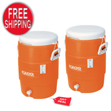 New listing 5 Gallon Heavy Duty Beverage Water Cooler Pour Dispenser Sports Work Party 2Pack