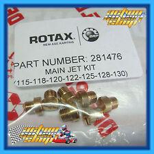 GO KART ROTAX MAX SEVEN MAIN JET SET 115, 118, 120, 122, 125, 128, 130 FREE DEL.