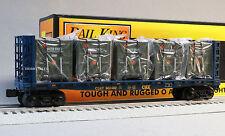 MTH RAIL KING CSX BULKHEAD FLATCAR LCL CONTAINER o gauge train us army 30-76602