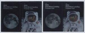 "5399-5400 - Scarce Color Shift Error / EFO ""First Moon Landing"" 50th Anniv. MNH"