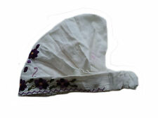 Guatemalan HEADBAND - Q45 White Hand Made Embroidered Flowers Headwrap NEW
