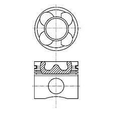 Kolben NURAL 87-137500-10