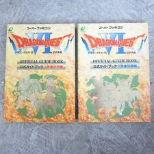 DRAGON QUEST VI 6 Guide Book Set 1&2 Sekai Chishiki SFC EX*