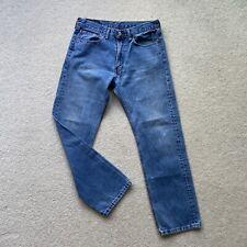 Rare Vintage Levi's 505 Blue Jeans 34W 32L Denim Worker Rocker