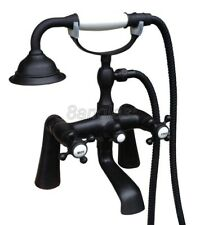 Black Oil Brass Deck Mount Bath Tub Hand Held Shower Faucet Set Mixer Tap 8tf502