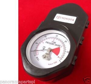 TOYOTA TYRE PRESSURE GAUGE NEW GENUINE WITH PROTECTIVE CASE ACCESSORY