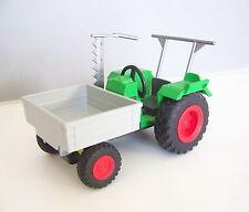 PLAYMOBIL (T4130) FERME - Tracteur Vert avec Benne Avant Basculante Grise 4497