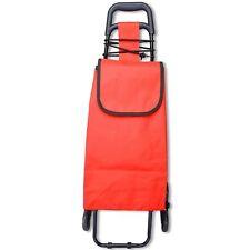 Portable Shopping Cart Carts Trolley Bag Vibrant Coloured Nylon Luggage Wheels
