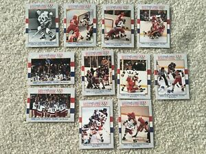 1991 US Olympic Gold Medal 1980 Hockey 11 Card Team Set ~ BROOKS ERUZIONE CRAIG