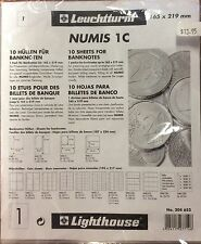 Lighthouse Numis  1c 165x219mm  coin pages-Pack of 10