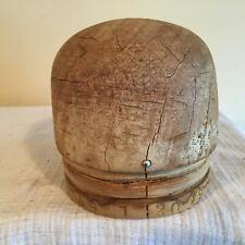 unique small round crown  /MILLINERY WOOD BLOCK HAT MAKING /FORM/MOLD/BRIM