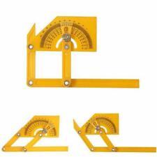 0-180° Angle Finder Miter Gauge Arm Measuring Ruler Tool Plastic Protractor FW