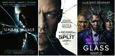 Eastrail 177 Unbreakable Split Glass Movie Poster Trilogy (Set of 3) 11x17 13x19