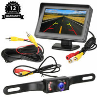 Car Parking Backup Camera 4.3'' LCD Reverse Rear View Monitor IR Night Vision US