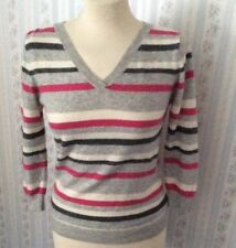 Ladies Moto Striped Pure Cashmere Jumper - UK10