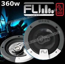 """FLI Integrator 5 5.25"""" pouces 180w 3-Way porte voiture dash étagère coaxial haut-parleurs paire"""