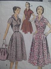 50's Advance 7993 Sew Pattern Easy sz 14 / 32 Tea Party Dress 1957