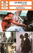 FICHE CINEMA : LES NERFS A VIF - De Niro,Nolte,Lange,Scorsese 1991 Cape Fear