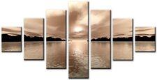 7 panneau Total taille 160x90cm impression sur toile Art abstrait beige/saumon/crème 06:00