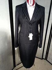 abito completo tailleur donna blu gessato tg 38-tg 40-tg42-tg44-tg 46