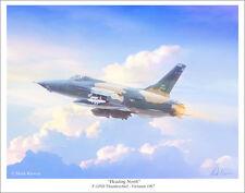"F-105D Thunderchief by Mark Karvon Aviation Art Print, Size 11"" x 14"""