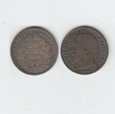 Gertbrolen 50 Centimes Argent Napoléon III Tête nue  1858 Paris TB+ Petits chocs