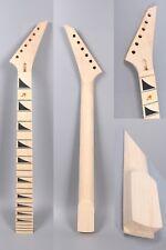 Electric Guitar Neck Maple Wood 25.5inch 24 fret Shark tooth Floyd locking nut