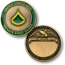 U.S. Army / Private First Class - Brass Challenge Coin