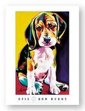 DOG ART PRINT Otis by Ron Burns