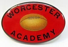 1930's or older WORCESTER ACADEMY FOOTBALL Massachusetts oval pinback button +