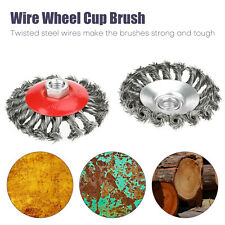 """New listing 4Pcs Twist Cup Wire Wheel Brush 5/8""""-11 Arbor Wire for Angle Grinder Wheel"""
