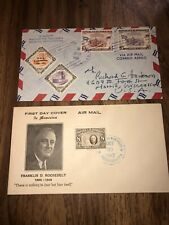 Vtg Pair Of Honduras Complete Covers 1947- Fdc & 1961